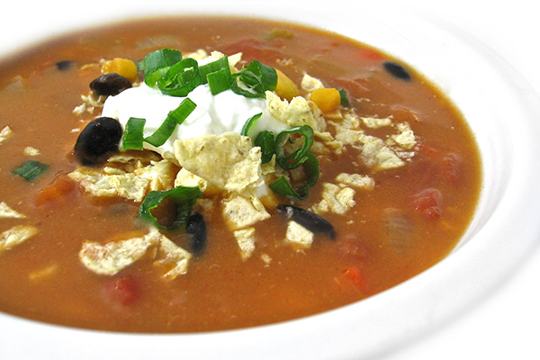 Skinny Chicken Enchilada Soup (Crock Pot or Stove Top ...