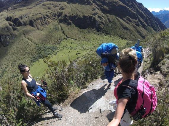 Peeing while hiking stories