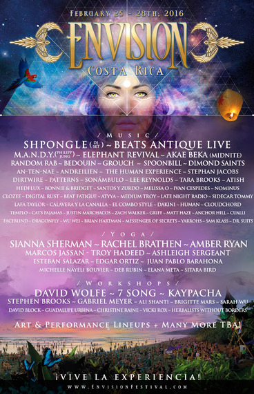 Envision Festival 2016 Lineup Educational Retreatore