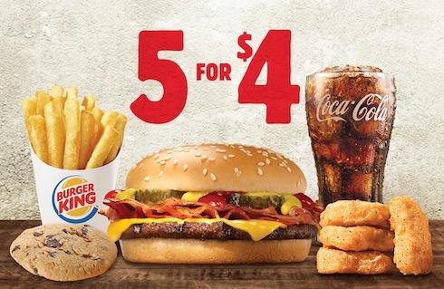 Burger king 39 s 39 5 for 4 39 deal heats value menu war huffpost for Wendy s fish sandwich 2017