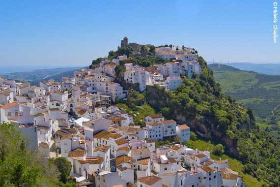 The village of Casares in the province of Malaga, Andalucia. Spain copyright Michelle Chaplow