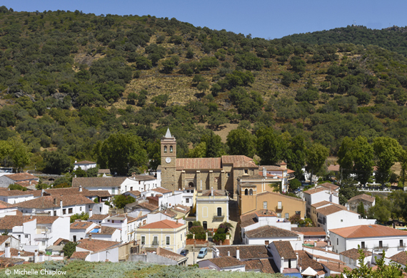 The village of Almonaster la Real By Michelle Chaplow