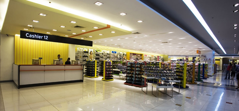 Department Store Shoe Racks