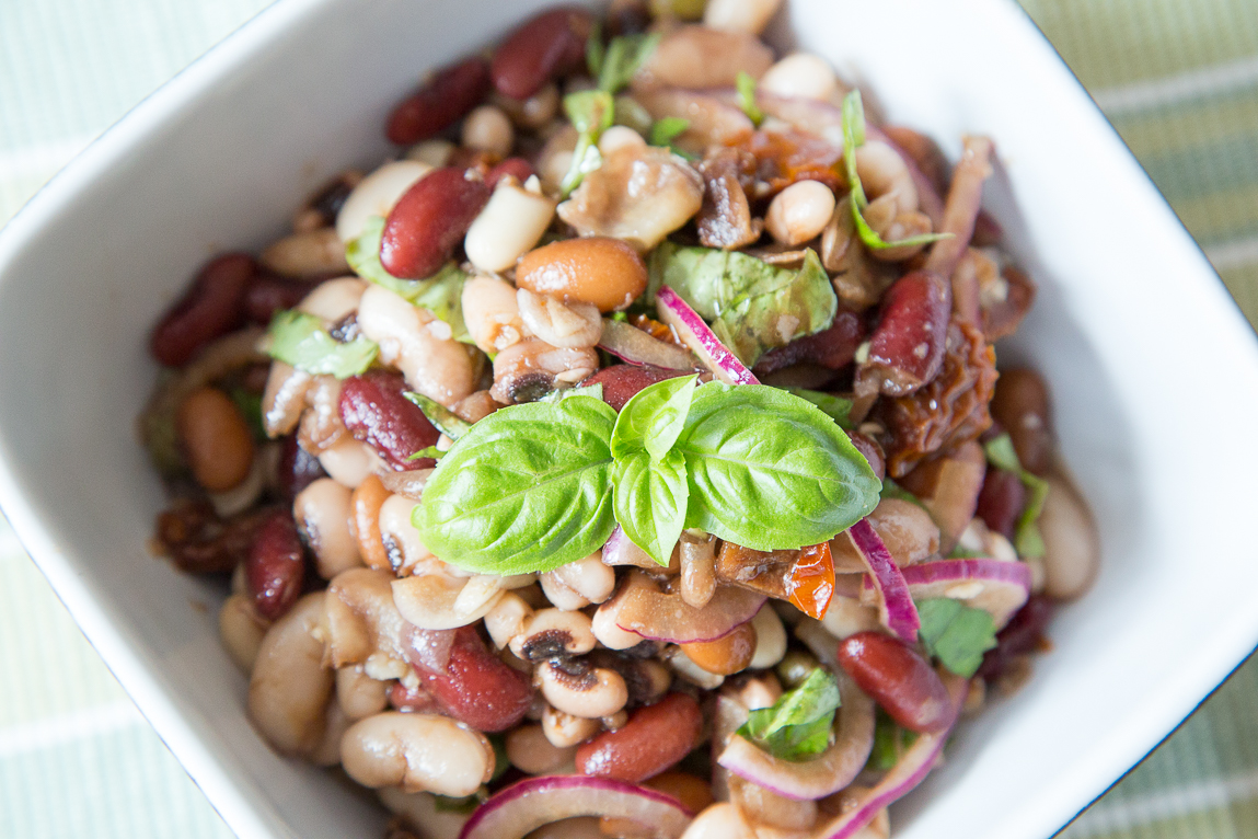 how to make mixed bean salad
