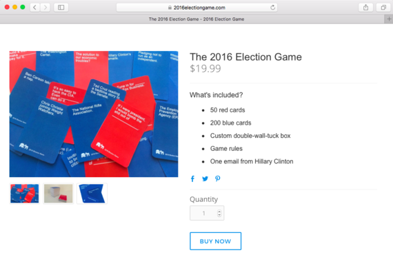 2016 Election Game website