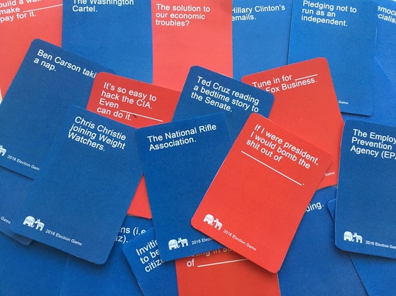 2016 Election Game Cards