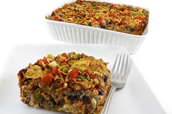... , Skinny Beef and Bean Enchilada Casserole | The Huffington Post