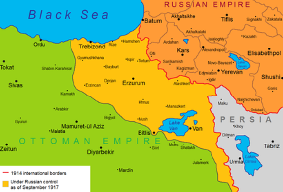 Image result for ww1 russian advance anatolia map