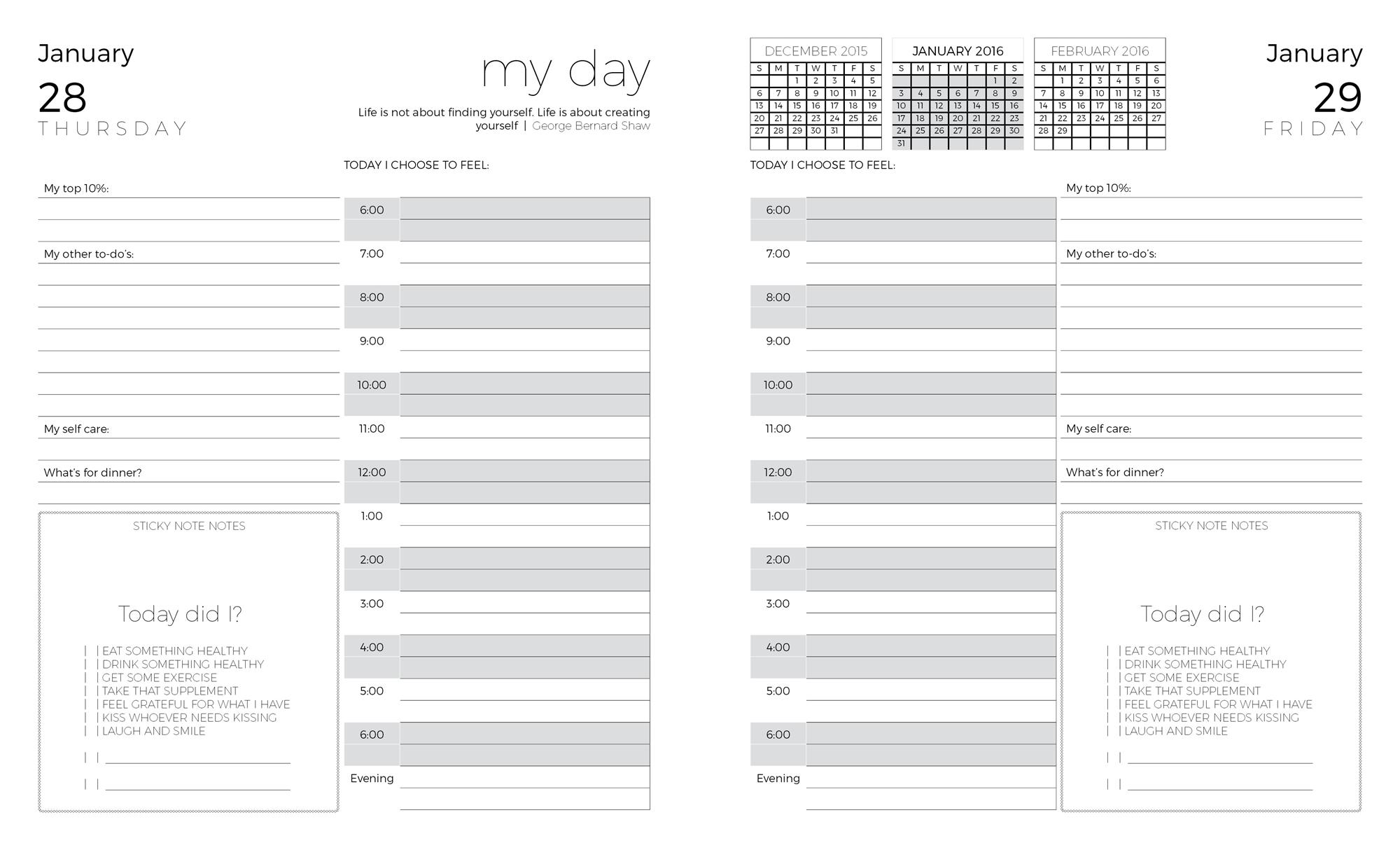 coach day planner