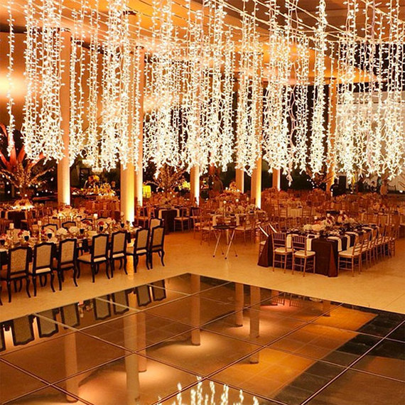 20 ways to make a statement at your wedding from above for Floor decoration ideas
