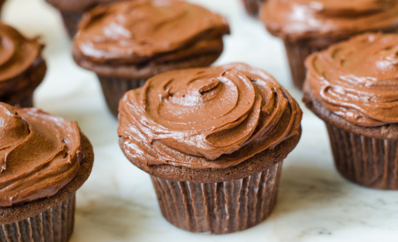 10. Chocolate Cupcakes with Creamy Chocolate Frosting