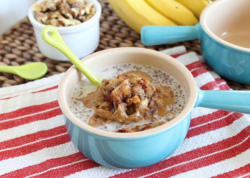 Quinoa Cereal With Caramelized Bananas from Running To The Kitchen