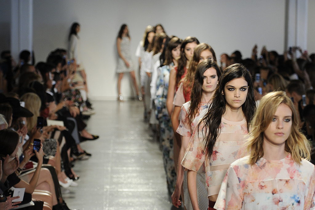Skinny models long hair