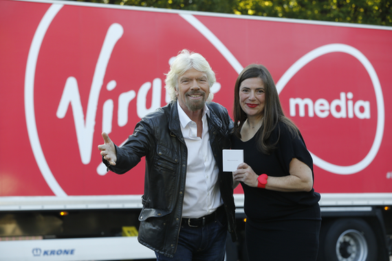 Melissa Curry and Richard Branson Virgin Atlantic