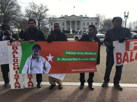 A Protest Outside the White House Highlights Pakistan's Rights Abuses in Balochistan...