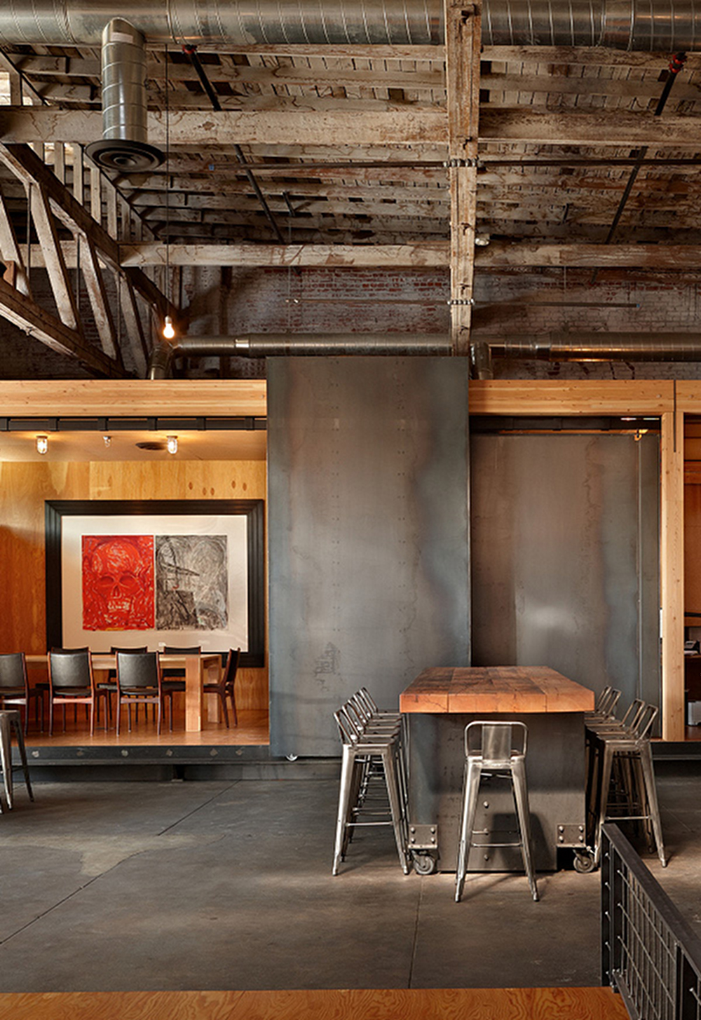 Metal wood a match made in interior design heaven huffpost - Industrial design home ...