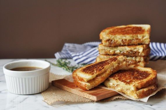 12 french onion soup grilled cheese