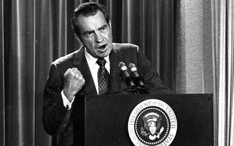 richard nixon and supreme court Us supreme court nominee brett kavanaugh once questioned the correctness of the 1974 high court decision that forced then-president richard nixon to turn over secret white house tape recordings and led to his resignation.