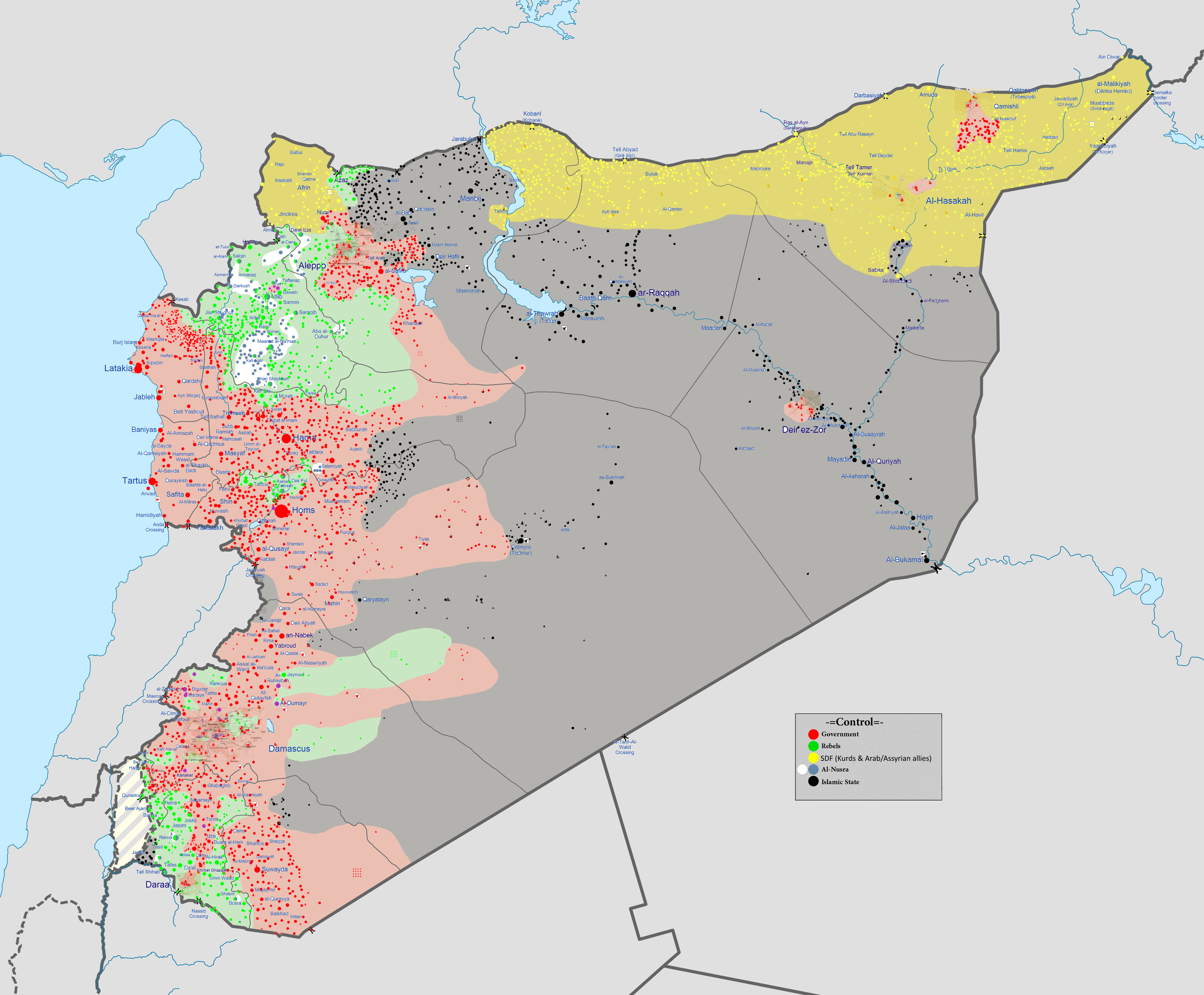 syrian civil war At syrian civil war map, get all information on recent gains and losses visualized, news about all isis war and live middle east map of the syrian civil war.