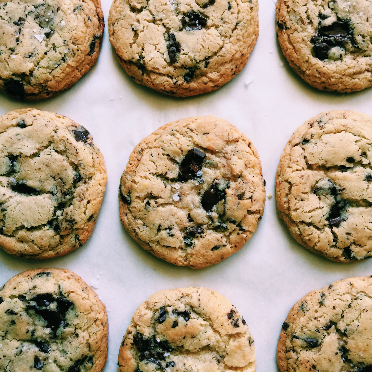 gluten-free brown butter chocolate chip cookies }