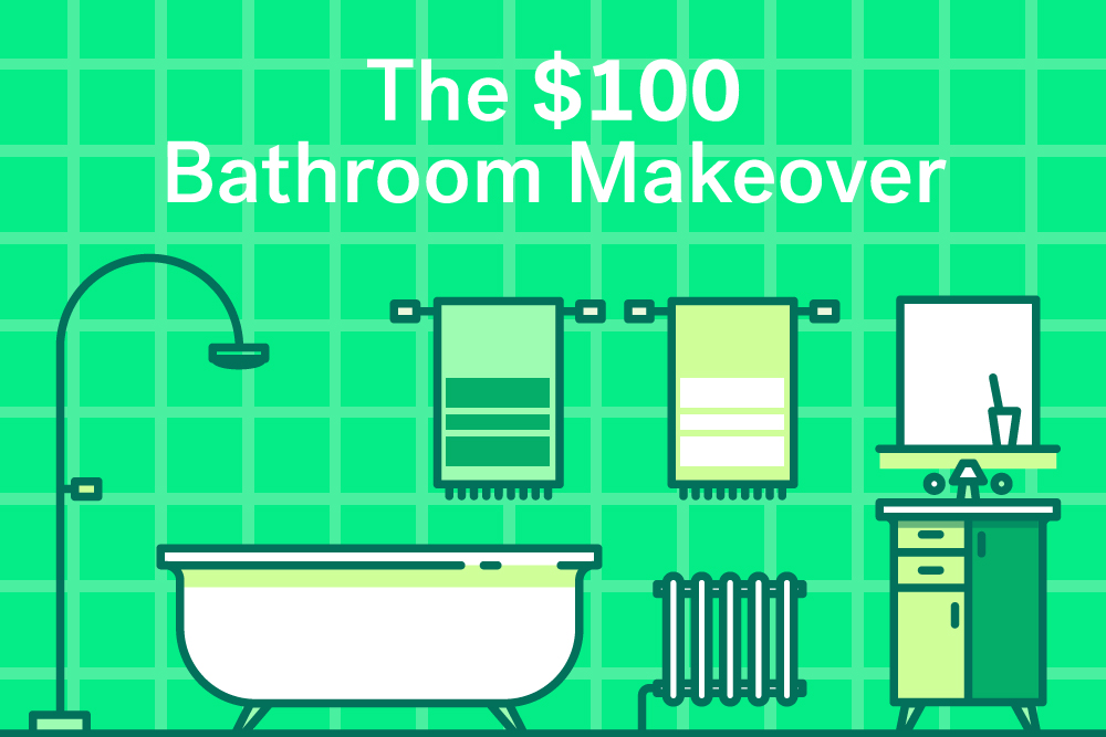 Bathroom Lighting Fixtures Under $100 renter rescue: the $100 bathroom makeover | huffpost