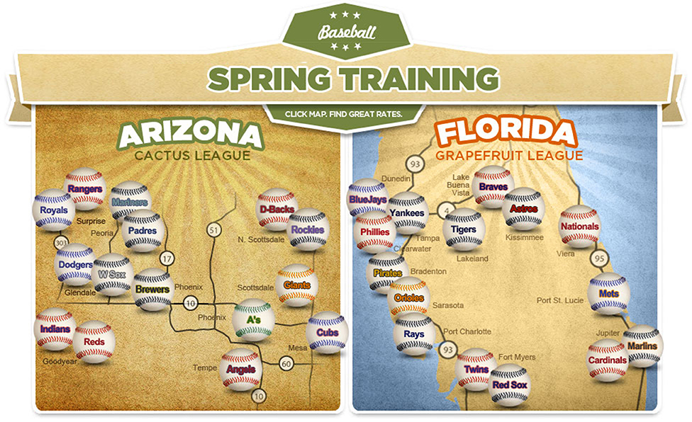 Image result for spring training arizona and florida