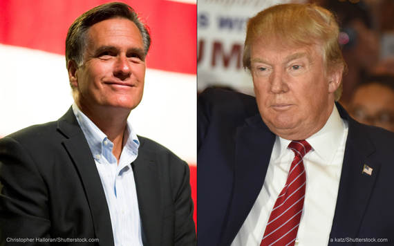 Image result for romney vs trump