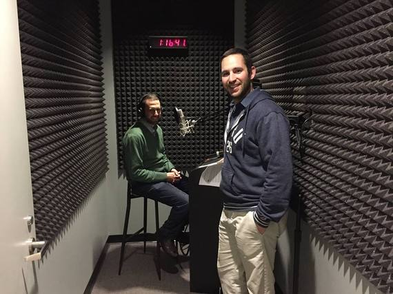 Michael Goldberg with Davey Berris recording the pilot Beyond Silicon Valley podcast