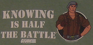 Image result for knowing is half the battle