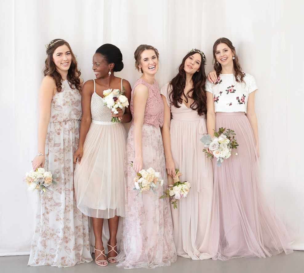 The anatomy of the picture perfect bridal party huffpost for Dresses for wedding bridesmaid