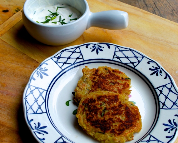 Irish Potato Pancakes with Chive Sour Cream | The Huffington Post