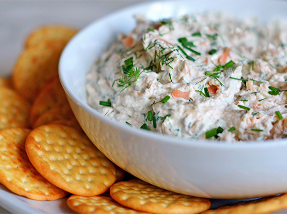 ... and serve this delicious smoked salmon spread alongside the best part