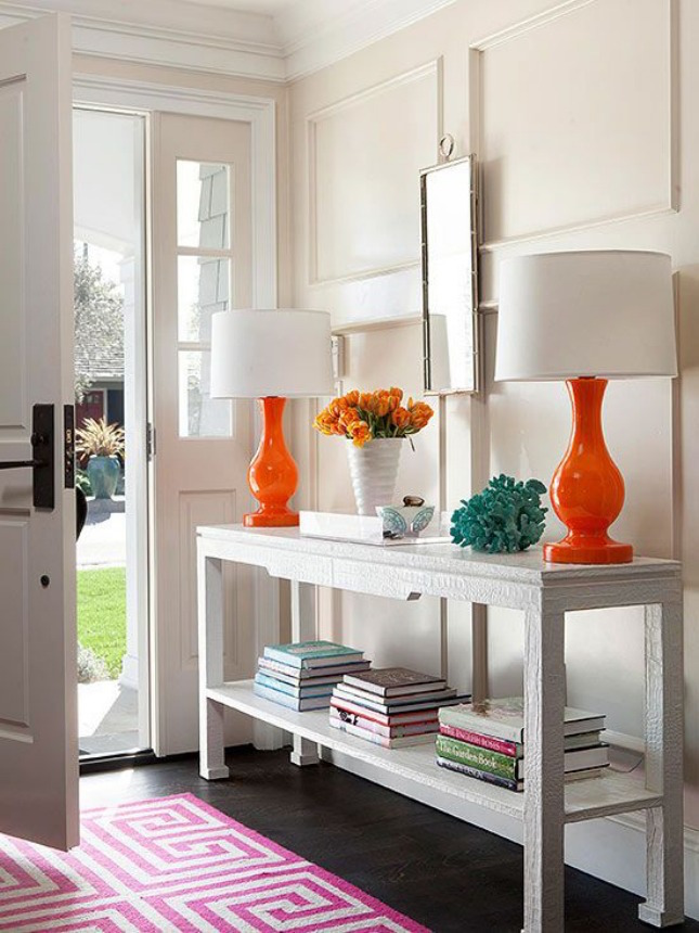 how to style an entryway table huffpost. Black Bedroom Furniture Sets. Home Design Ideas