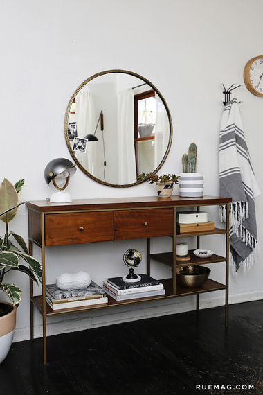 Entryway Foyer Console Table Amp Mirror Set : How to style an entryway table huffpost
