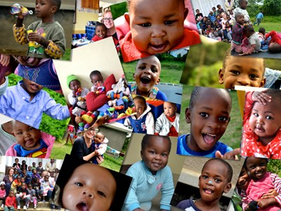 Montage of orphanage photos