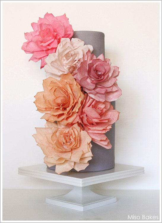 Цветы из вафельной бумаги мастер класс