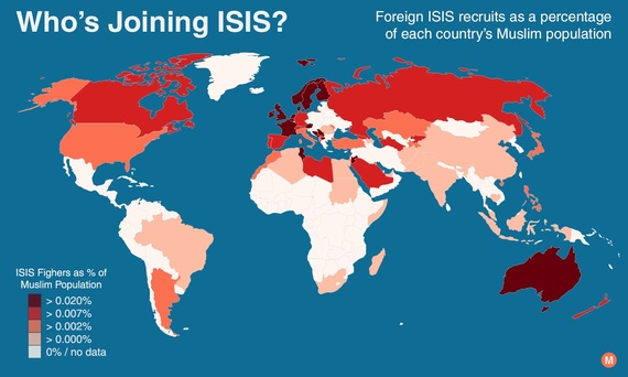 New Research Shows ISIS Recruitment Driven By Cultural Isolation - Us map isolation