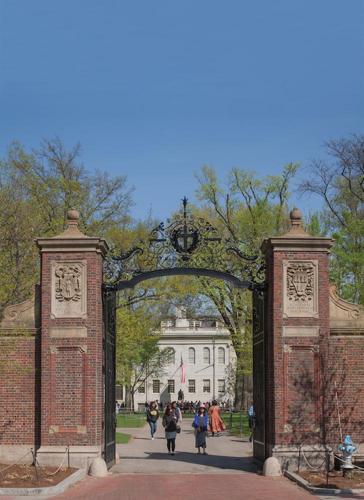 Gates of Harvard Yard ...