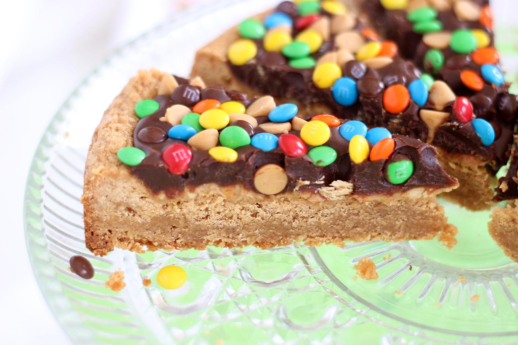 Chocolate-Peanut Butter Cookie Pizza Recipe — Dishmaps