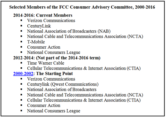 Verizon Has Been on the FCC Consumer Advisory Committee (CAC) for 16 Years. What the...?