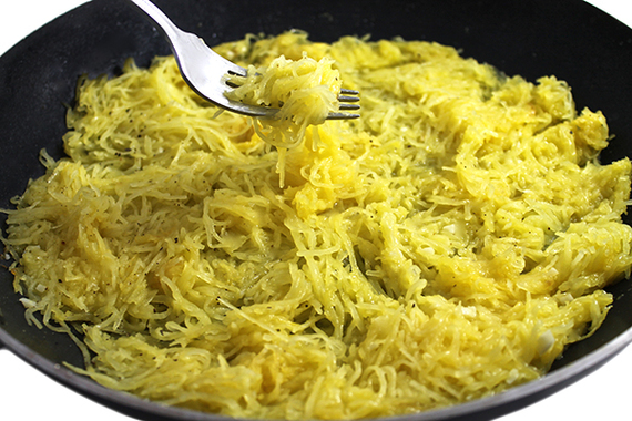 Spaghetti Squash with Skinny Garlic Butter | HuffPost