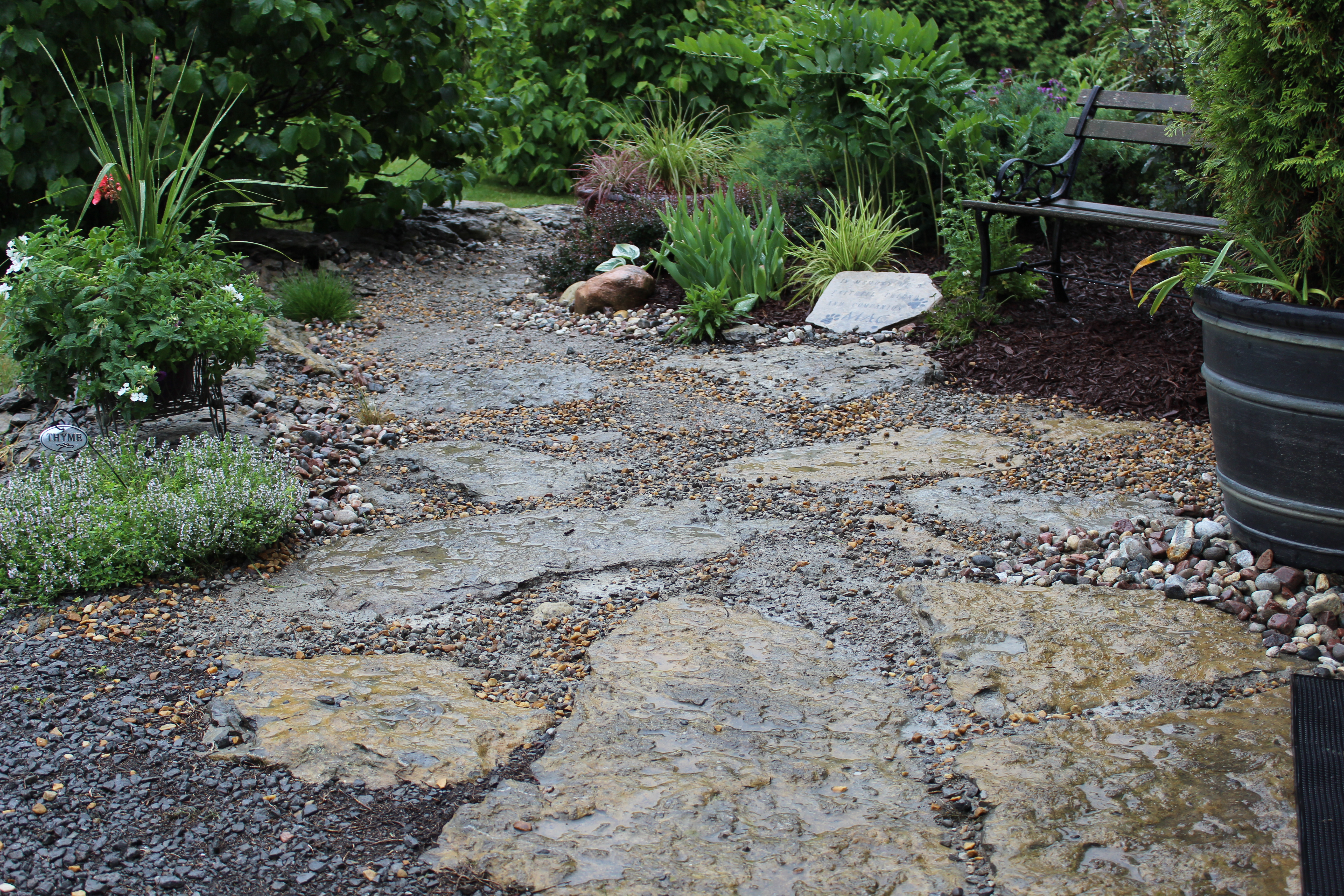down the garden path adding stone walkways in your outdoor space