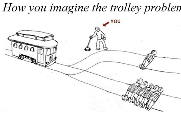 behind the absurd popularity of trolley problem memes