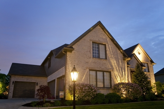Outdoor lighting around a residence