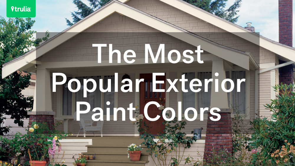 The most popular exterior paint colors huffpost for Best paint to use for outdoor mural