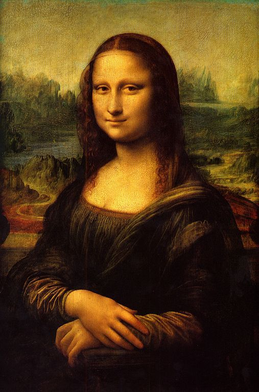 The Mona Lisa by the Italian artist Leonardo da Vinci, part of the collection of the Louvre Museum in Paris