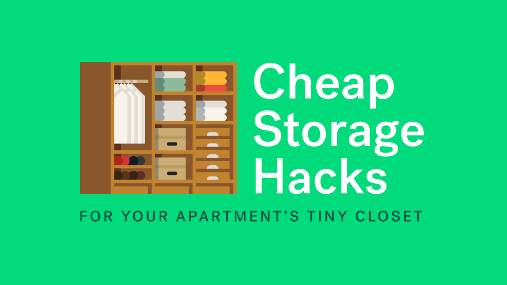 7 Cheap Storage Hacks For Your Apartment's Tiny Closet ...