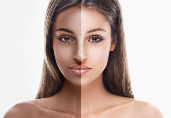 Women are beautiful dark skinned