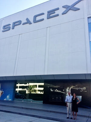 Meeting Elon Musk at SpaceX - photo by Maria Ingold