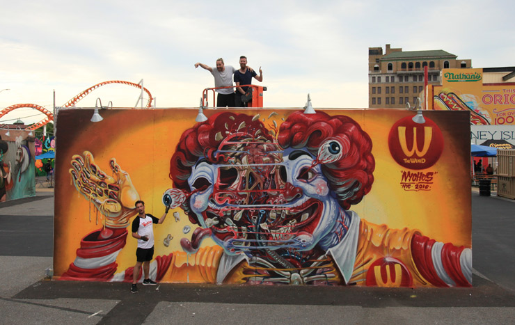 Artists bring 22 new murals to coney art walls 2016 huffpost for Austin mural wall